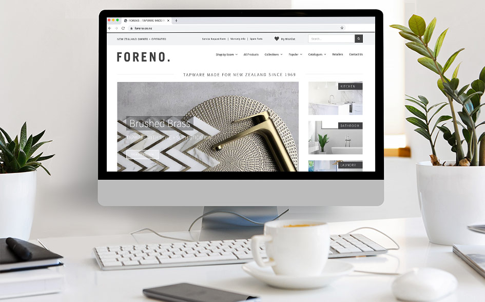 FORENO website redesign (May 2020)